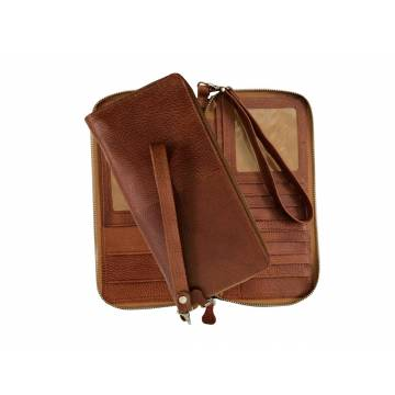 کیف پاسپورتی چرم طبیعی